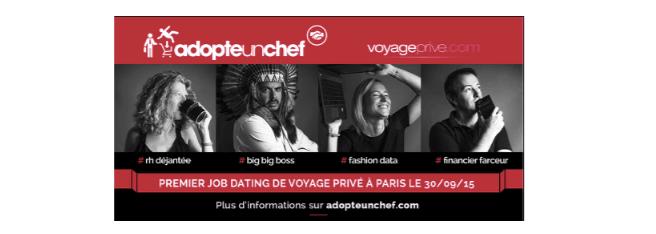 Adopte un chef - campagne voyageprive.com