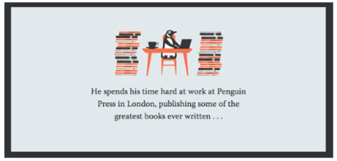 Pingouin lit des livres