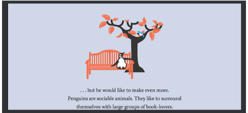 Pingouin animal sociable