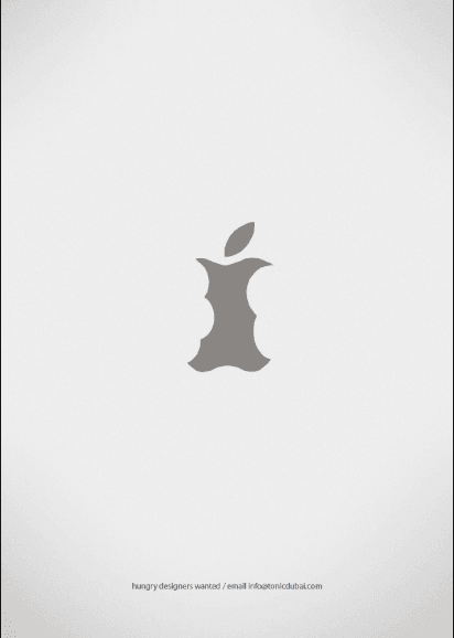 Hungry designers wanted - campagne de recrutement Apple