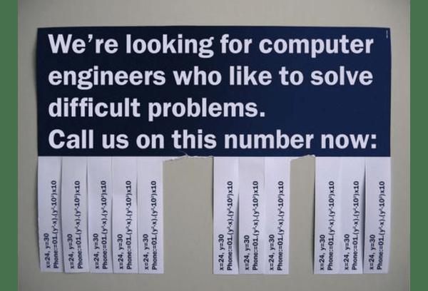 Recherche d'ingénieurs