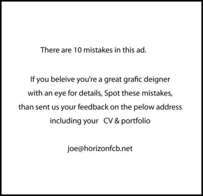 10 erreurs dans une pub