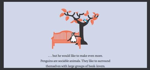 Pingouin est un animal sociable